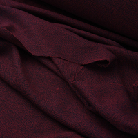 140CM Wide 280G/M Yarn Dyed Black Red Wool Fabric for Autumn Spring Dress Coat Jacket H367