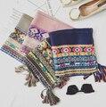 Moda de luxo borlas sarja coton pashmina paisley boêmio xales longo projeto cachecóis muçulmanos wraps outono/cachecol 10 pçs/lote