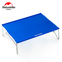Naturehike Aluminum Alloy Table Outdoor Durable Light Folding Stainless Steel Desk Camping Portable Tea Table 2