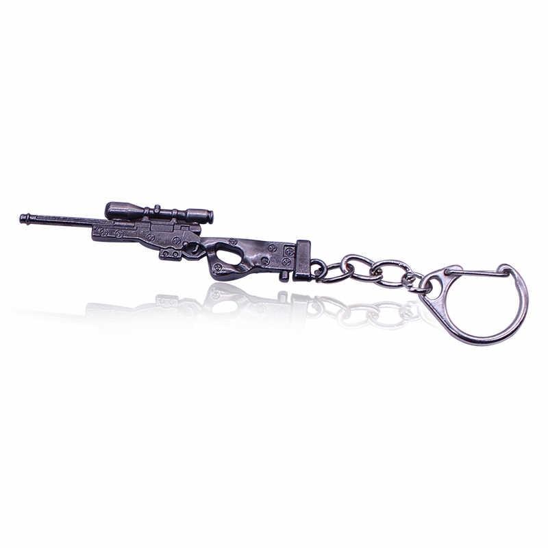 2019 simülasyon silah modeli anahtarlık erkekler için erkek erkek Mini M4A1 AK47 tabancası anahtarlık AWP tüfek keskin nişancı serin Punk otomobil çantası takı