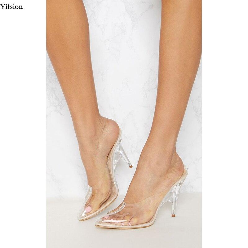 D0938 Sandales Nude Bout Grande Transparent Aiguille 11 Cm 5 Us zVUGqSMp