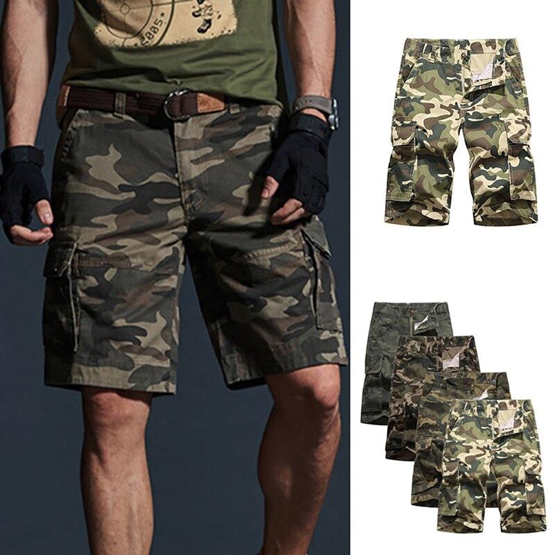 HEFLASHOR 2019 Brand New Cargo Shorts Men Casual Pockets Military Short-Pants Fashion Camouflage Male Shorts Plus Size
