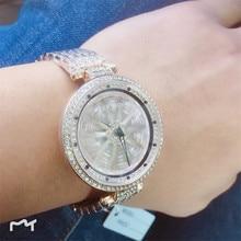 2019 Luxury Brand Lady Steel Watch Women Dress Watch Fashion Rose Gold Quartz Watches Female Rotating Waterproof Wristwatches цена и фото
