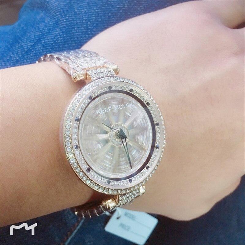 2019 marque de luxe dame en acier montre femmes robe montre de mode Rose or Quartz montres femme rotation étanche montres