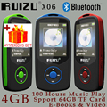 Ruizu X06 Pantalla Deporte Hifi Audio Lossless Portátil Digital Mp 3 Mini Reproductor de Música Mp3 Radio FM Bluetooth Con Flac LCD Running