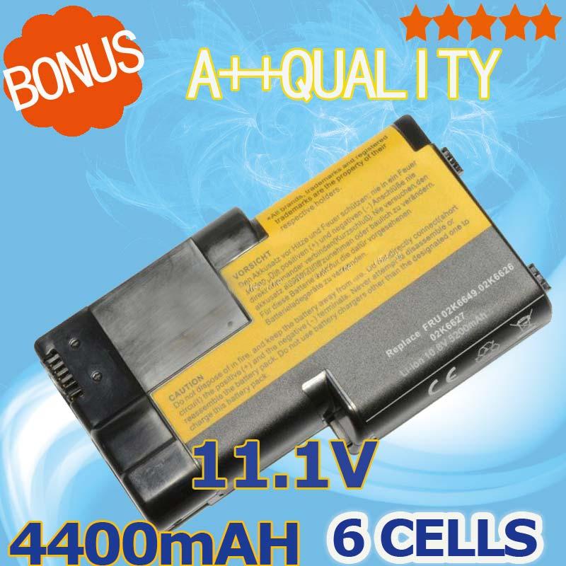 4400 mAh 11.1 v Batterie D'ordinateur Portable Pour IBM ThinkPad T20 T21 T22 T23 T24 02K6620 02K6621 02K6649 02K7025 02K7026 02K7028 08K8026
