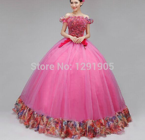 10835 Vestido De Baile Largo Con Volantes Rosa Real 100 Vestido Medieval Vestido Renacentista Vestido De Reina Victorianomaría Antonietavestido