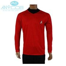 Star Trek Into Darkness Scotty Knit Shirt Uniform For Men Halloween Cosplay Costume Red Version