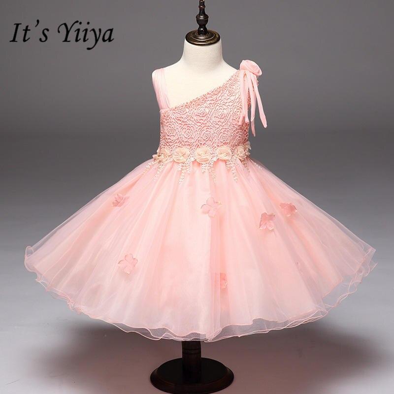 It's yiiya Elegant Pink   Flower     Girls     Dresses   Sweet O-neck Tank Little   Girl   Ball Gown MA073