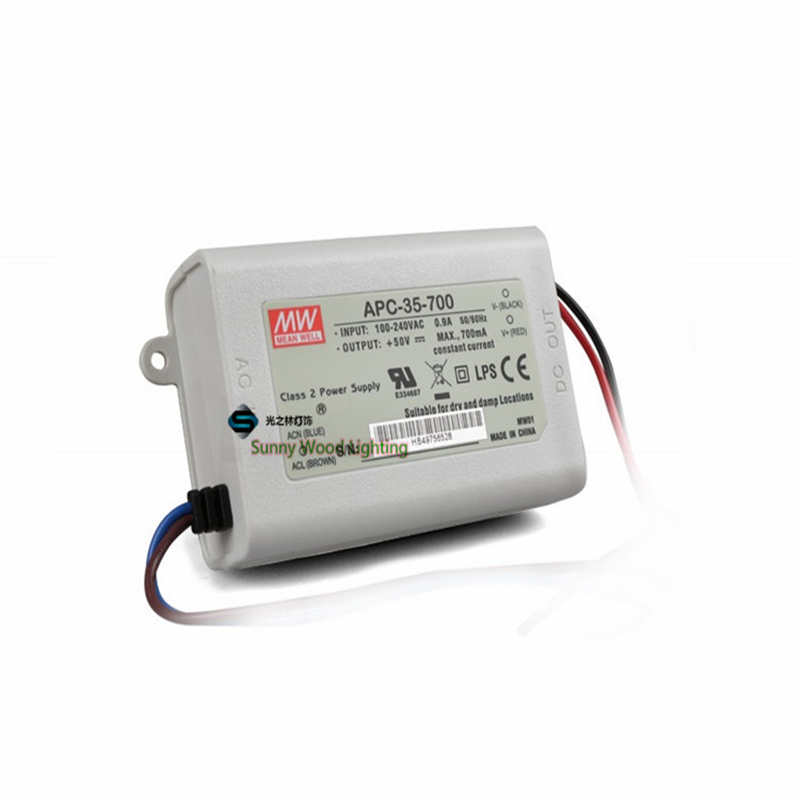 100-240Vac to 15-50VDC ,35W ,700ma constant current power supply ,Led light,led signboard driver ,APC-35-700 original meanwell led driver apc 16 700 16 8w 9 24v 700ma led power supply constant current mean well apc 16 ip42