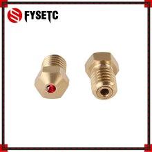 Embout saphir rubis V6, à température de 1.75mm, 0.4mm, pour PETG, ABS, PET, PEEK, NYLON, PRUSA I3 MK3, LulzBot