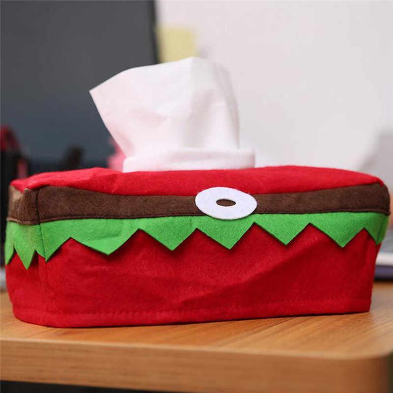 Venta caliente de Navidad ornamento de Navidad tejido de la cubierta de la caja de bolsa a casa decoración familia fiesta de Navidad de toalla de papel caja adornos decoración de regalo