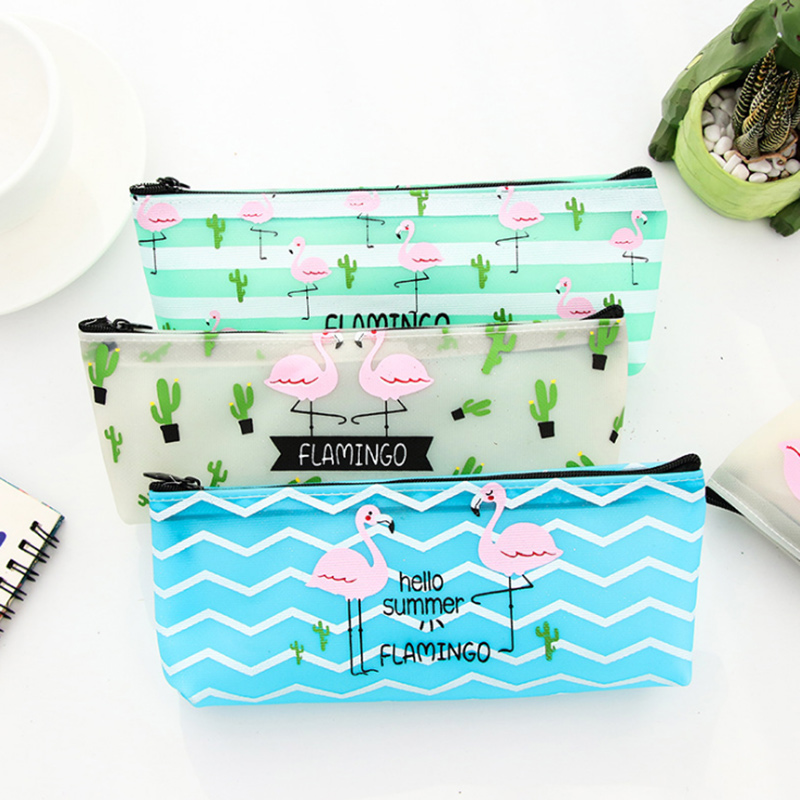 Portable flamingo pu leather waterproof Multifunction Beauty Zipper Travel Cosmetic Bag Makeup Case Toiletry Pouch Pen Purse bag handmade vintage leather zipper pen pencil pouch wallet glasses toolkit toiletry cosmetic makeup bag case 9115fs