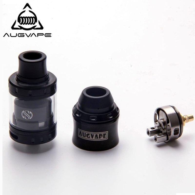 Augvape Merlin Mini RTA & RDA bouchon supérieur Kit 24mm 2 ml RTA réservoir en acier inoxydable RAD atomiseur Vape Cigarette électronique atomiseur réservoir