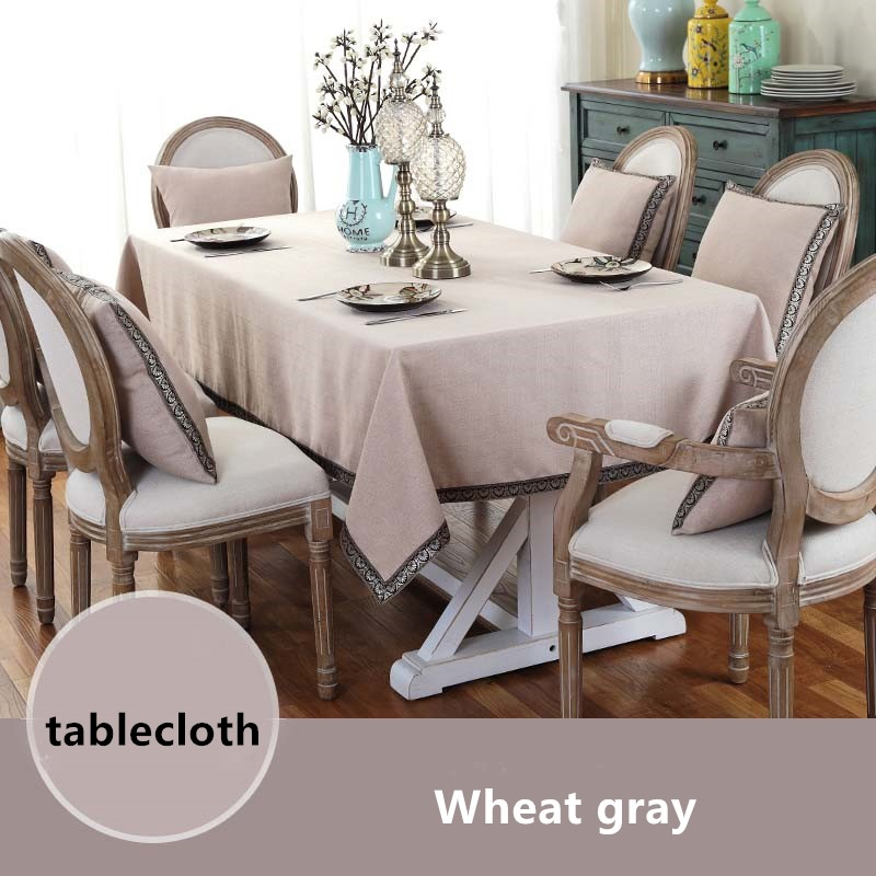 High Quality Pure Color Table Cloth Japanese Cotton Linen