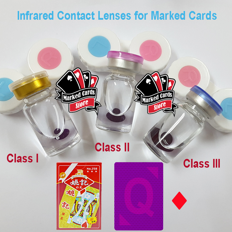 GS Perspective Invisible Ink Contact Lenses Reading Marked Playing Cards For Sale In Magic Show Or Poker Casino Games