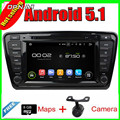 8'' Free Shipping Quad Core Android 5.1 Car Radio GPS For OCTAVIA 2014 With Multimedia Stereo Video Mirror Link 16GB Flash