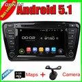 8 ''Frete Grátis Quad Core Android 5.1 GPS Rádio Do Carro para OCTAVIA 2014 Com Stereo Multimedia Vídeo Espelho Ligação 16 GB Flash