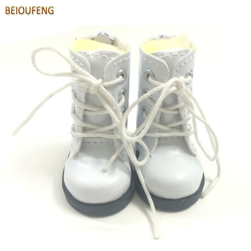 BEIOUFENG One Pair 1/6 BJD Doll Shoes for Fabric Dolls,Causal Sneakers Shoes 5CM PU Leather Doll Boots for Dolls Accessories 5cm pu leather doll princess shoes for bjd dolls lace canvas mini toy shoes1 6 bjd snickers for russian doll accessories