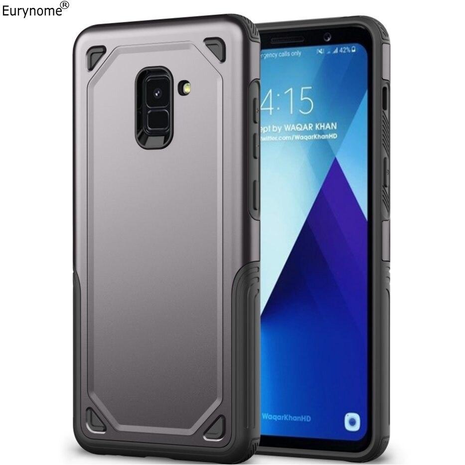 Eurynome Fall Für Samsung Galaxy A8 Plus Stoßfest Kunststoff Fall Abdeckung für Samsung Galaxy A8 2018 A6 2018 Plus Bildschirm film