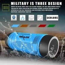 Zealot S1 Bluetooth Haut-Parleur Portable Subwoofer Puissance Banque Rechargeable avec LED lumière pour Sport En Plein Air + Vélo Support De Montage