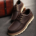 2016 New Fashion Autumn Men Tooling Shoes Male High Quality Split Leather Boat Shoes 3 Colors Brown Coffee Black