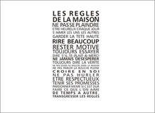 customize LES REGLES FASHION HOME RULE wall sticker art home decor French In this house decal fr11new(China)