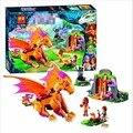 2016 nueva bela 10503 elfos lava cueva del dragón de fuego 446 unids/set lepin fairy 41175 juguetes de bloques de construcción para niños