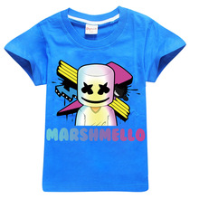 e86c84e0d8 Boy Marshmello DJ Music Cartoon roblox T Shirt For Girls Tee Tops Clothes  Children Summer Clothing ...