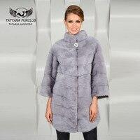 Tatyana Furclub Real Value Luxury Mink Fur Coat With Collar,Natural Mink Fur Coat Female Jacket,Winter Women's Mink Fur Coat