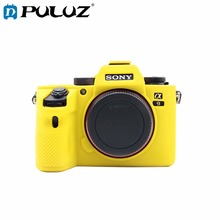 PULUZ Cover Case For Sony A9 / ILCE-9 Soft Silicone Camouflage Protective Case For Sony Camera Case цена