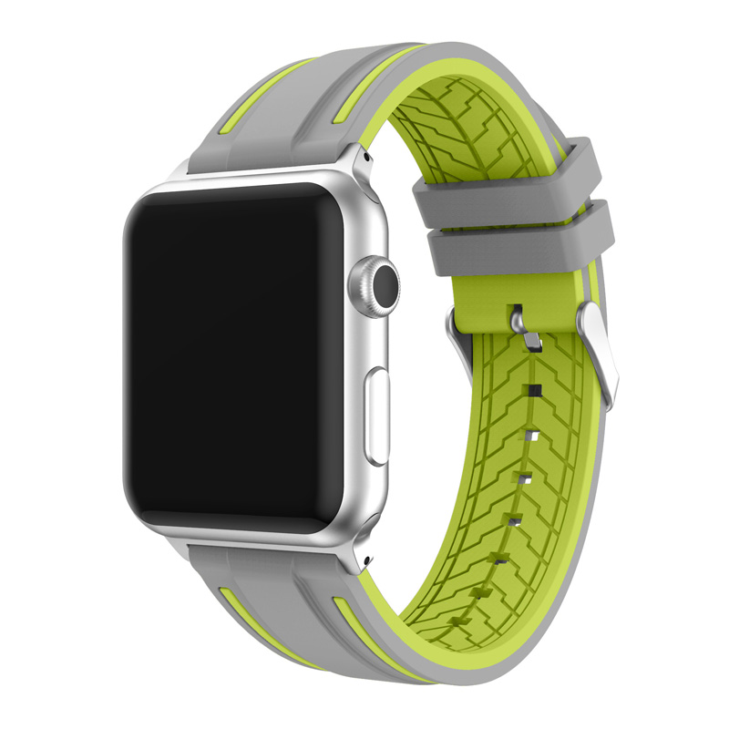 JANSIN Sport band for apple watch series 4 3 2 1 strap for iWatch  Soft Silicone Replacement band adapter 38mm 40mm 42mm 44mm 4