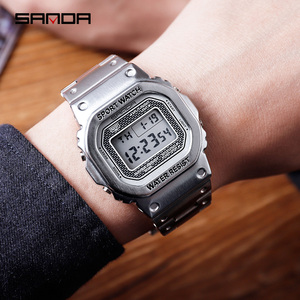 Image 2 - 三田メンズ腕時計トップブランドの高級ledデジタル腕時計メンズファッション防水スポーツ時計男性時計レロジオmasculino