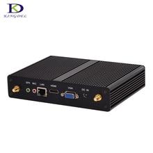 Безвентиляторный intel n2830 n2920 mini pc celeron j1900 quad core windows 7 Мини-Компьютер с Двумя HDMI Wi-Fi Dual LAN TV Box Бесплатно доставка