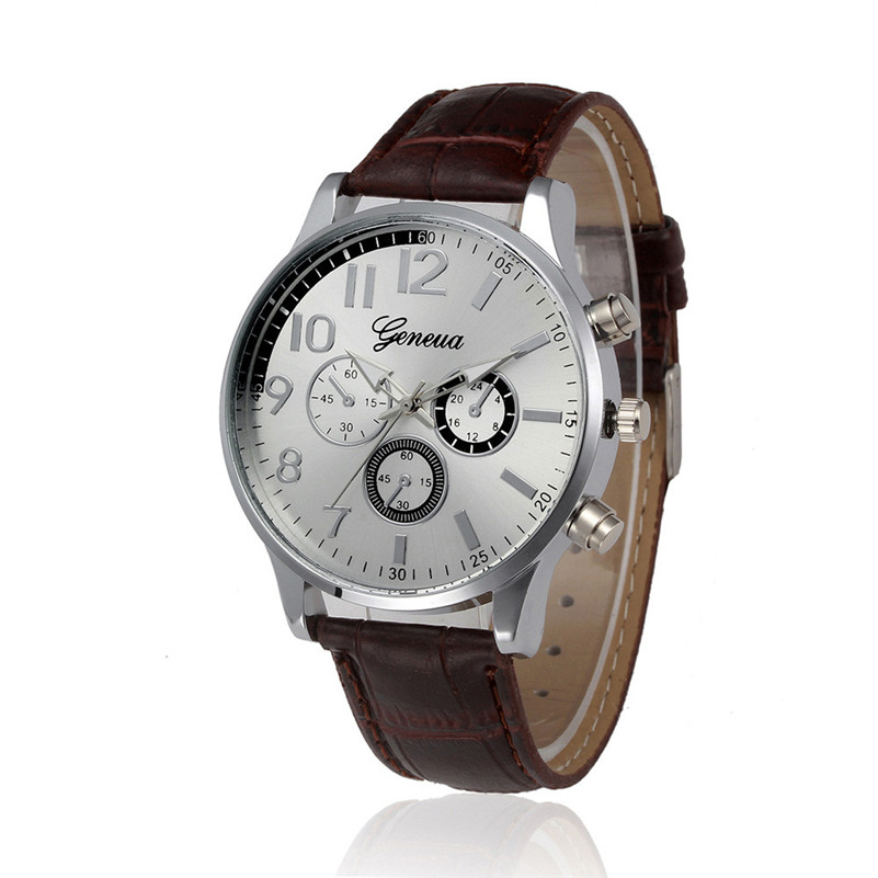 a639e834f Nový Stylový a klasický vzhled muži hodinky Retro Design kožené ...