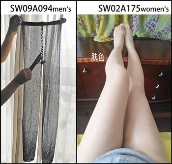 Pantimedias para hombre 10D Ultra transparentes a la cintura sin refuerzo y brillantes SW09A094