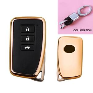Image 5 - 2019 nowy miękki TPU klucz pokrywy skrzynka dla Lexus NX GS RX IS ES GX LX RC 200 250 350 LS 450H 300H Car Styling klucz ochrony brelok