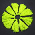 33mm bright fluorescent green color Silk Cotton Tassels Charms Fit Fashion Jewelry making 20pc/lot