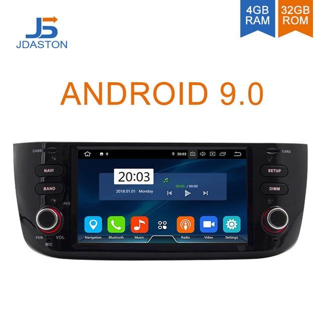 JDASTON Android 9.0 Car Multimedia Player For Fiat Abarth Punto EVO Linea 2012-2016 Octa Cores 4G+32G 1 Din Car Radio GPS Stereo