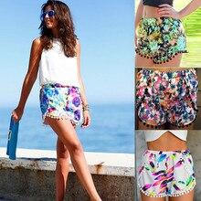 Summer Women Short Tassel Flower Print
