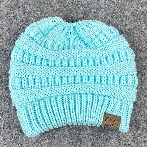 edda39c6f46 BONJEAN women warm hat CC Trendy Warm winter knitted Chunky Soft ...