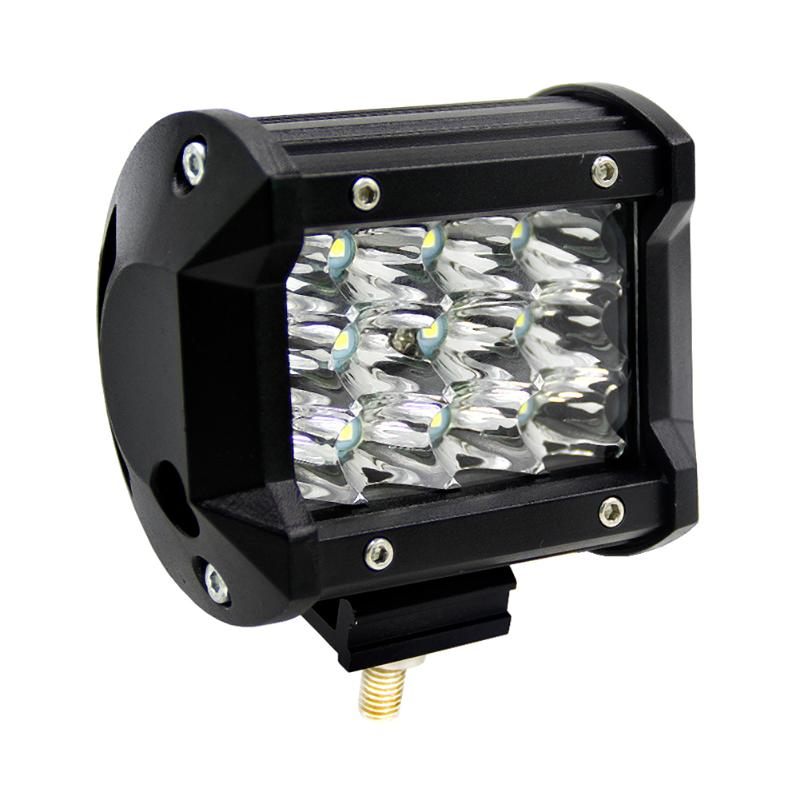 4inch 36W 3-Row LED Work Light Car Day Light Bar Automobile Flood Lamp For Jeeps Ships Motorcycles Off-road SUVs Boats Trucks
