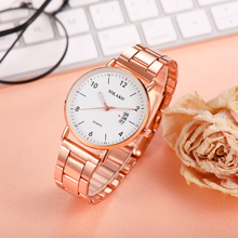 Rose Gold Women Watches Casual Luxury Stainless Strap Ladies Quartz Wrist Watch Female Clock Wife Gift For Montre Femme casual simple rose gold women watches mesh strap ladies quartz wrist watch clock wife gift for relogio feminino montre femme