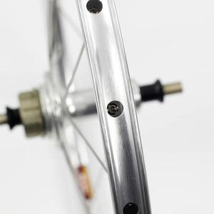"""Image 2 - バイクホイールセット 1 3 速度 16 × 1 3/8 """"349 を kinlin NB R リム 14 h/21 h ブロンプトン用 3 シックス超軽量折りたたみ自転車ホイール 800 グラム diy"""