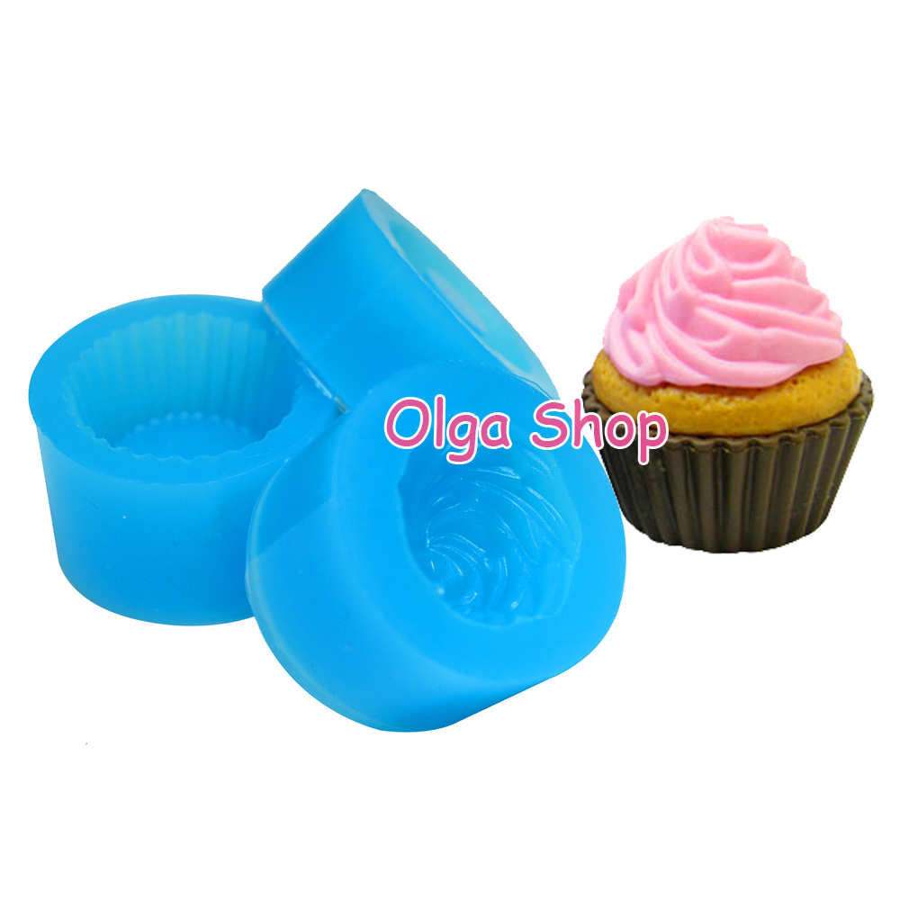 FDA Strawberry Cupcake silicone Mold Food push  Cake Decoration Candy Cupcake