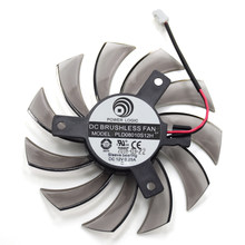 75MM PLD08010S12H 2Pin 3Pin HD 6850 Cooler Fan For NVIDIA GeForce GTX 560 460 Ti R7 260x R270X MSI 560 Ti Graphics Video Card(China)