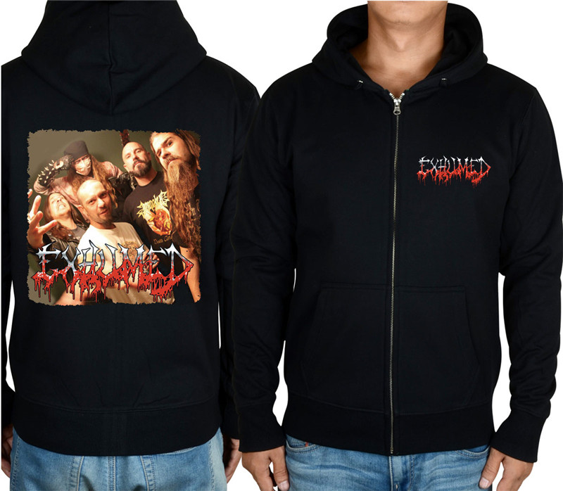 11 видов конструкций на молнии Exhumed Rock hoodies оболочка куртка 3D бренд панк Темный металлический Свитшот saw sudadera спортивная одежда - Цвет: 5