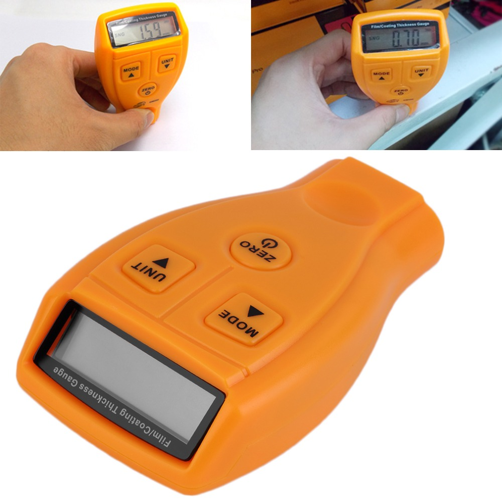 GM200 Paint Thickness Gauge Meter Digital Automotive Coating Ultrasonic Iron Tool Measuring Range From 0~1.80mm/0 To 71.0 mil digital 0 001mm accuracy 0 25mm measuring range l1h thickness gauge