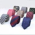 Mens Laço do Negócio Formal Designer de Listrado Jacquard Gravata Corbata Gravata Casamento Gravata Estreita Clássico Oficial No.21-40