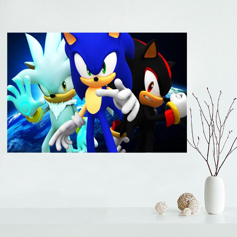 High Sonic Hedgehog Custom Canvas Poster Home Cloth Fabric Painting Wall Print With Free Shipping Worldwide Weposters Com